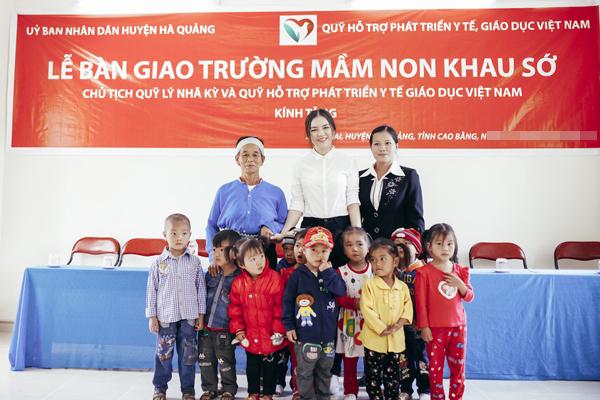 Lý Nhã Kỳ xây trường mầm non cho trẻ nhỏ Khau Sớ, Hà Quảng, Cao Bằng